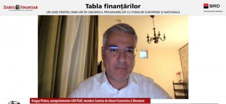 Videoconferinta ZF/BRD Nord - Est: Tabla Finantarilor 2021. Dragos Pislaru, europarlamentar: IMM-urile suporta costuri ascunse, iar PNRR-ul are ca scop diminuarea acestor costuri