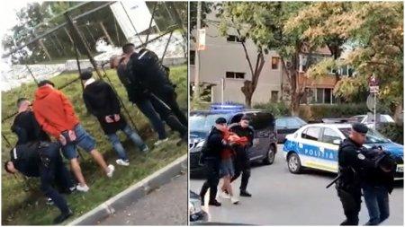 Doua grupuri de suporteri s-au luat la bataie, la Timisoara. Jandarmii au intervenit in forta