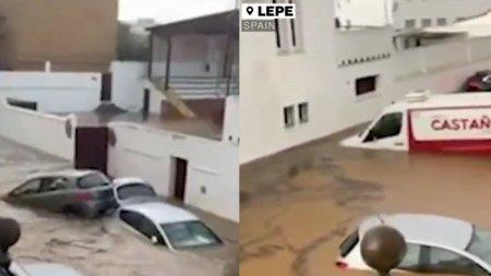 Atentionare de calatorie pentru romanii care merg in <span style='background:#EDF514'>SPANIA</span>. Alerta de ploi si furtuni