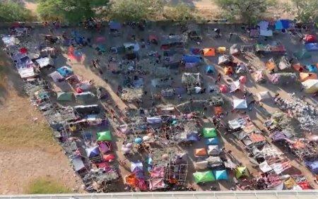 Criza migrantilor din SUA continua. 4.000 de migranti se adapostesc sub un pod in conditii mizere