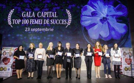 Revista Capital a lansat Top 100 femei de succes din Romania. Laureatele editiei din acest an au fost premiate in cadrul unei gale