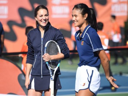 Emma Raducanu, meci de tenis alaturi de <span style='background:#EDF514'>KATE</span> Middleton. Ce spune ducesa de Cambridge despre victoria campioanei