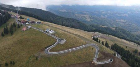 Noua sosea din muntii Parang. Imagini aeriene inedite cu drumul care va trece pe sub partii FOTO