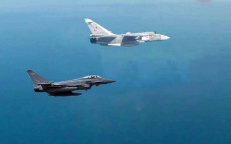 Doua avioane militare rusesti au fost interceptate in apropierea spatiului aerian al Romaniei