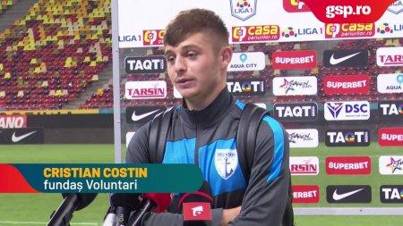 VOLUNTARI. Cristian Costin dupa victoria cu Rapid: