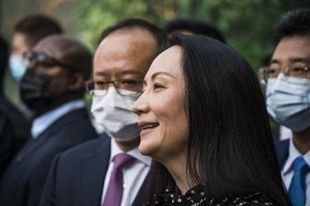 Directoarea financiara de la Huawei, eliberata dupa ce a ajuns la un acord cu procurorii americani in cazul de frauda bancara