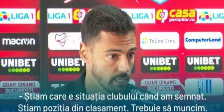 Andre Pinto, primele declaratii ca jucator al lui Dinamo: