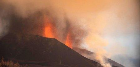 Norul de poluanti generat de <span style='background:#EDF514'>ERUPTIA</span> vulcanului din La Palma ajunge in Romania. In cat timp va acoperi toata tara
