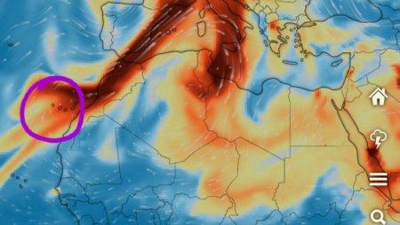 Norul de poluanti generat de vulcanul din La Palma ajunge in Romania
