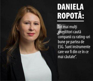 DANIELA ROPOTA, PRESEDINTELE AAFBR: 'Partea de ESG ne indeamna sa privim investitiile in perspectiva'