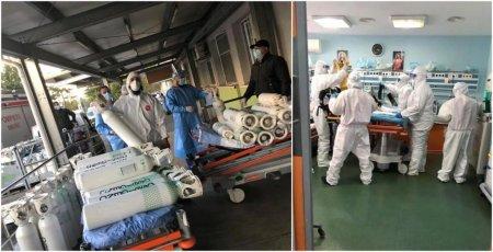 CNCAV: Imagini de pe frontul anti-COVID. Spitalul Pantelimon, plin de pacienti in stare grava