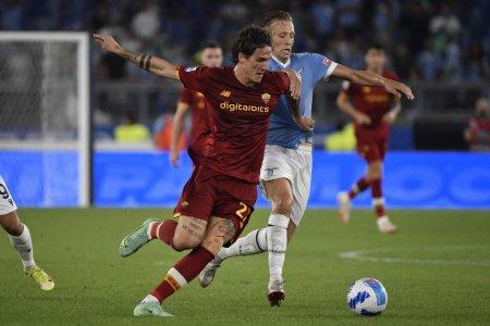 Gest golanesc la Derby della Capitale » Momentul cand Zaniolo i-a infuriat pe fanii lui Lazio