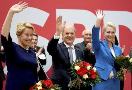 <span style='background:#EDF514'>OLAF</span> Scholz vrea o coalitie a SPD cu ecologistii si cu Partidul Liber-Democrat