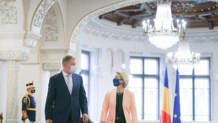 Ursula von der Leyen s-a intalnit cu Klaus Iohannis la Cotroceni