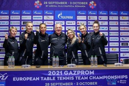 Fetele din echipa feminina de tenis de masa inainte de Campionatul European de la Cluj-Napoca: Sa speram intr-un rezultat cat mai bun, aurul