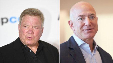 Nava lui Jeff Bezos urmeaza sa-l duca in spatiu pe Capitanul Kirk din Star Trek