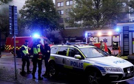FOTO. Explozie intr-o cladire din Gothenburg. 25 de persoane au ajuns la spital