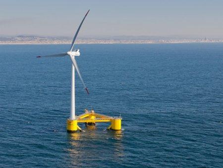 WindFloat, parcul eolian care pluteste in Oceanul Atlantic, poate alimenta un oras intreg