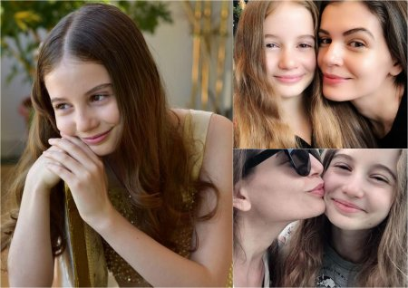 Irina <span style='background:#EDF514'>COLUMBEANU</span>, aparitie rara intr-o rochie cu crapatura si decoletu. Fiica lui Irinel si a Monicai poarta inel pe mana stanga
