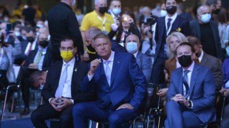 FOTO - Il va amenda Politia Capitalei pe Klaus Iohannis pentru ca nu a purtat masca la congresul PNL?