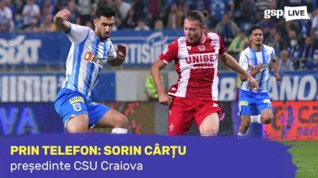 CSU CRAIOVA. Sorin <span style='background:#EDF514'>CARTU</span>, exuberant dupa triumful zdrobitor cu Dinamo: Se mai vorbeste la 5-0?!