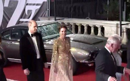 Premiera filmului James Bond No Time to Die a avut loc in prezenta Printului William si sotiei, <span style='background:#EDF514'>KATE</span> Middleton