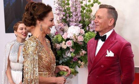Familia regala britanica, la premiera noului film James Bond. Ce i-a spus Daniel Craig ducesei <span style='background:#EDF514'>KATE</span> Middleton