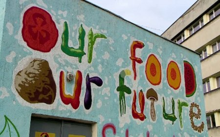 O pictura murala inedita, realizata de tineri artisti, in Iasi. Ce o face asa de speciala