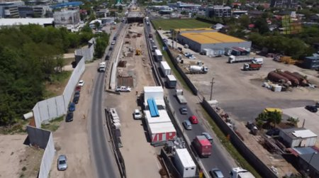 <span style='background:#EDF514'>INAUGURARE</span> pe Centura Capitalei. Traficul rutier se deschide pe Pasajul Mogosoaia cu sase luni inainte de termen