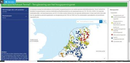 TenneT, transportatorul olandez de energie, are o harta la zi cu capacitatile disponibile pentru noile investitii in regenerabile. La Transelectrica, datele lipsesc