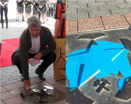 Fanii lui Șahtior s-au razbunat pe Lucescu! I-au vandalizat steaua de pe Walk of Fame!