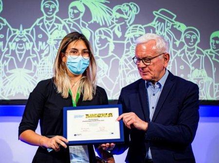 Elevii de la <span style='background:#EDF514'>COLEGIUL NATIONAL</span> Mihai Viteazul din Capitala, premiati la European Charlemagne Youth Prize