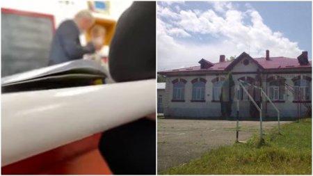 Un profesor din Suceava a fost filmat in timp ce palmuieste un elev in fata clasei