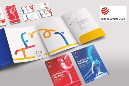 VMLY&R Commerce castiga pentru Federatia Romana de <span style='background:#EDF514'>GIMNASTI</span>ca  un premiu Red Dot Design Award 2021