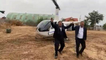 Primar din Dolj, dus la nunta cu elicopterul; Fu misto! A fost ambitia lu' finu'