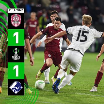 CFR Cluj a tras din greu pentru o remiza cu Randers in Gruia