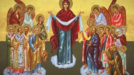 Calendar ortodox 1 octombrie 2021. Sarbatoare cu cruce rosie de Acoperamantul Maicii Domnului