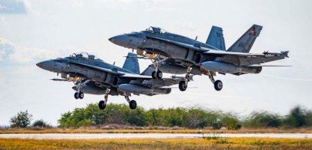 Un avion de lupta rusesc a dat tarcoale spatiului aerian romanesc si a fost identificat de doua puternice CF-188 canadiene decolate de la Kogalniceanu