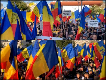 Protest impotriva masurilor sanitare. Aproximativ 2000 de persoane s-au adunat <span style='background:#EDF514'>LA PIATA</span> Universitatii