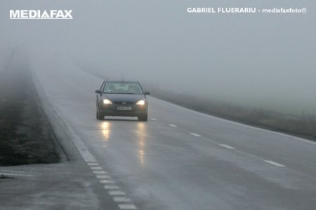 Trafic: ceata in <span style='background:#EDF514'>HARGHITA</span>, lucrari pe A1 si A2