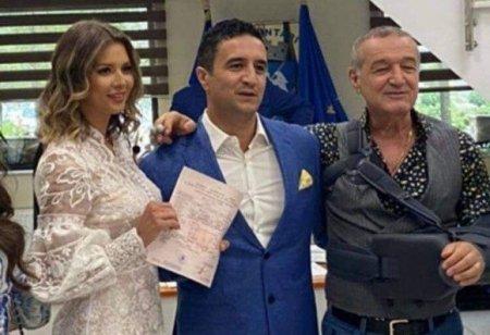 Gigi Becali, sufletul petrecerii la nunta nepotului sau. Lucian s-a casatorit cu Iulia Florescu