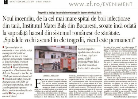 Sirul celor 14 incendii din spitale in doar un an ridica problema iresponsabilitatii conducerii Romaniei
