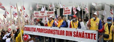 Situatie grava in sistemul sanitar din Romania. Protest al Federatiei Sanitas in fata Guvernului