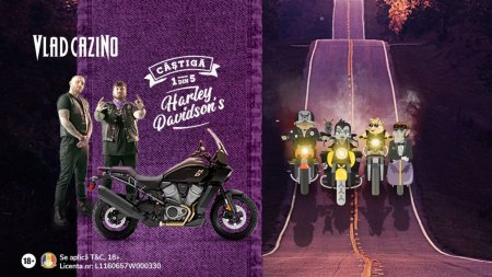 Vlad Cazino lanseaza o provocare in premiera: 5 Motociclete Harley Davidson si sute de alte premii in noua campanie de toamna