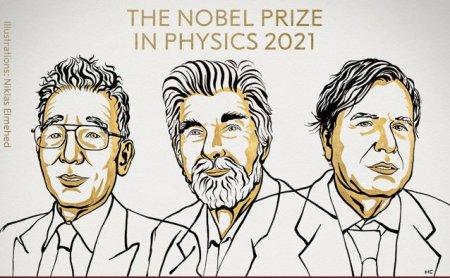 Premiul Nobel pentru fizica 2021, impartit de italianului <span style='background:#EDF514'>GIORGI</span>o Parisi, de germanul Hasselmann si de americanul Manabe