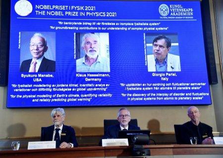 Premiul Nobel pentru fizica 2021, impartit de trei cercetatori, pentru contributii inovatoare in intelegerea climei si a sistemelor fizice complexe