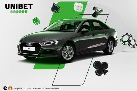 Unibet isi rasplateste clientii cu 8 masini Audi A4 si multe alte premii