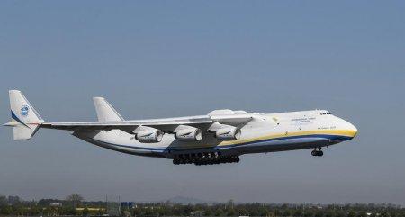 Cel mai mare avion din lume aterizeaza la Bucuresti. Ce zboruri va face aparatul Antonov-225
