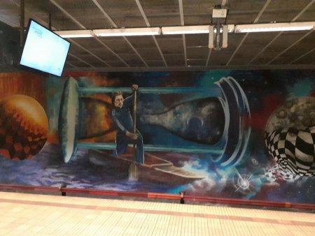 Statia de metrou Ștefan cel Mare din Bucuresti straluceste cu lumina eterna a lui Ivan Patzaichin