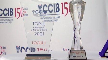 Antena 3 si Antena TV Group au fost premiate de <span style='background:#EDF514'>CAMERA DE COMERT</span> si Industrie a Municipiului Bucuresti
